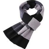 針織圍巾-柔軟羊毛商務百搭男披肩2色73wi26【時尚巴黎】