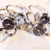 手錶手鐲式女開口中學生韓版簡約創意學院風潮流ulzzang女生鏈條 NMS漾美眉韓衣