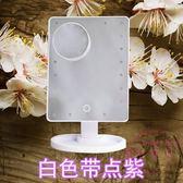LED化妝鏡觸屏USB帶燈台式台燈梳妝鏡大歐式結婚公主鏡便攜化鏡子
