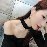 耳環女 925銀針韓國氣質長款閃鑽耳環個性百搭吊墜耳墜潮人耳釘女 芭蕾朵朵