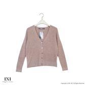【INI】細膩魅力、基本百搭素色針織外套.淺咖啡色