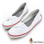 Hush Puppies 熱銷基本款★咖啡紗娃娃鞋-白