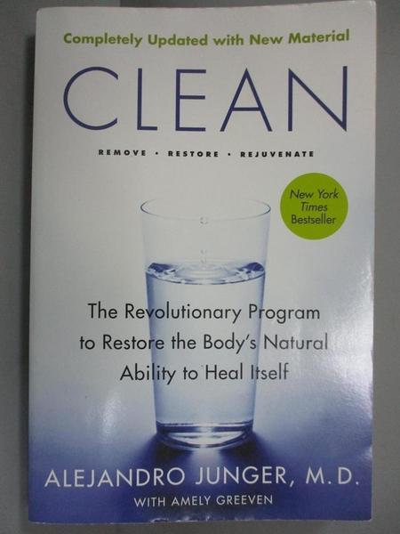 【書寶二手書T1/餐飲_JOH】Clean: The Revolutionary Program to Restore the Body s…