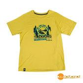 wildland荒野 男 圓領印花棉感抗UV上衣『檸檬黃』0A51610 台灣製造 排汗透氣圓領T恤 T-shirt 短袖運動服