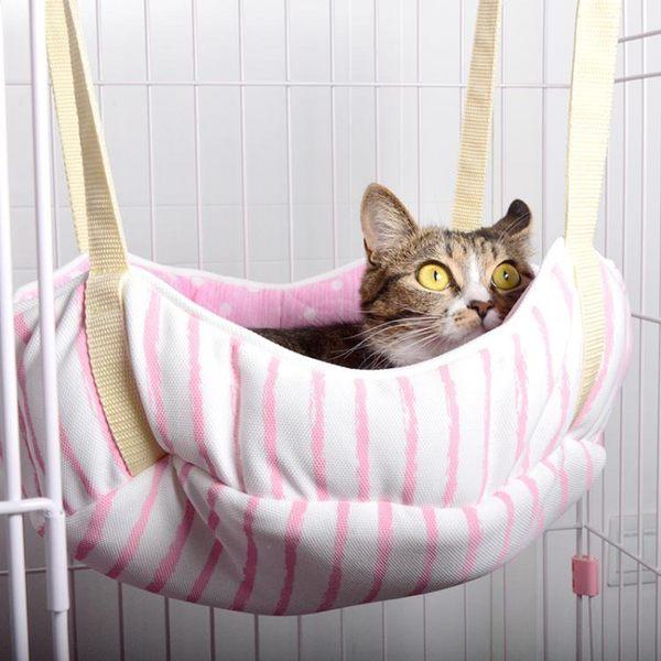 寵物窩/床 日本KOJIMA貓窩貓咪籠子簡約吊床掛式夏天涼感窩墊透氣涼爽jy【滿一元免運】