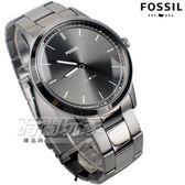 FOSSIL 雅痞風範 都會腕錶 薄型 不銹鋼 IP灰黑電鍍 男錶 中性錶 防水手錶 灰黑色 FS5459
