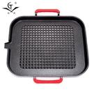 韓式鐵板烤盤木炭燒烤爐家用戶外便攜鋼架麥飯石不粘烤盤【七月特惠】
