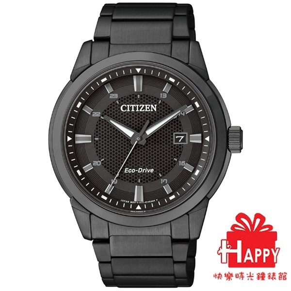 CITIZEN星辰Eco-Drive  GENT'S 紳士時尚光動能腕錶   BM7145-51E  -黑