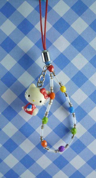 【震撼精品百貨】Hello Kitty 凱蒂貓~KITTY手機提帶-復古紅