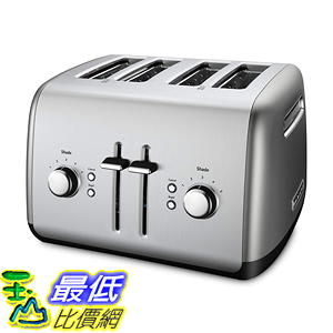 [8美國直購] 烤麵包機 KitchenAid Kmt4115cu 4-Slice Toaster with Manual High-Lift Lever, Contour Silver