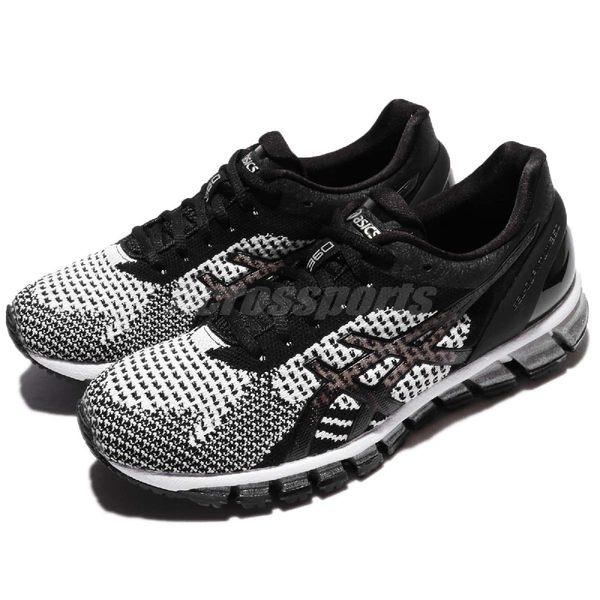 【六折特賣】Asics 慢跑鞋 Gel-Quantum 360 Knit 黑 灰 白 亞瑟膠 針織鞋面 女鞋【PUMP306】 T778N9001