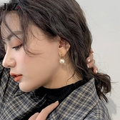 韓國氣質網紅耳墜女2021新款潮耳環珍珠耳釘純銀高級感復古耳飾品 伊蘿