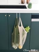 環保袋述物家用購物袋女包手提環保袋鏤空水果蔬菜買菜袋子便攜折疊網兜榮耀 新品