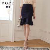 東京著衣【KODZ】時髦韓妞羅馬布魚尾裙-S.M(6003000)