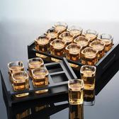 全館83折 青蘋果玻璃白酒杯套裝6酒杯12只裝托盤架子洋酒杯家用小號一口杯