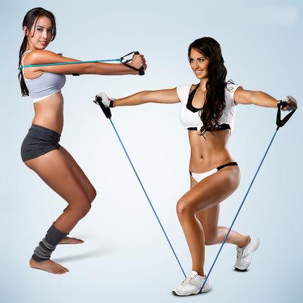 Qmishop 一字拉力繩 彈力繩 拉力器 拉力帶 彈力帶 擴胸器 拉繩 擴胸繩 瑜珈伸展帶【H331】