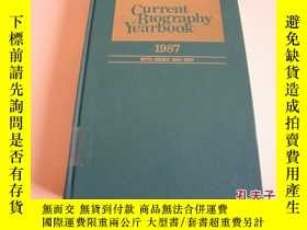 二手書博民逛書店CURRENT罕見BIOGRAPHY YEARBOOK 1987