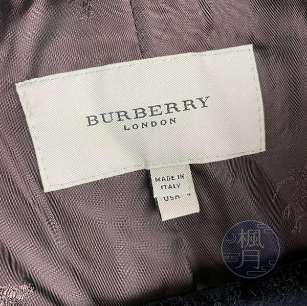 BRAND楓月 BURBERRY 格紋 毛呢 雙排釦 大衣 外套 長版 100%羔羊毛 保暖