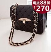 女包包 斜背側背包-韓版線繡鑲鑽側背手提女包包- JB1235  交換禮物