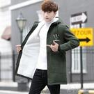 棉衣男士冬季外套韓版潮流中長款棉服男反季加厚冬裝棉襖子冬裝快速出貨