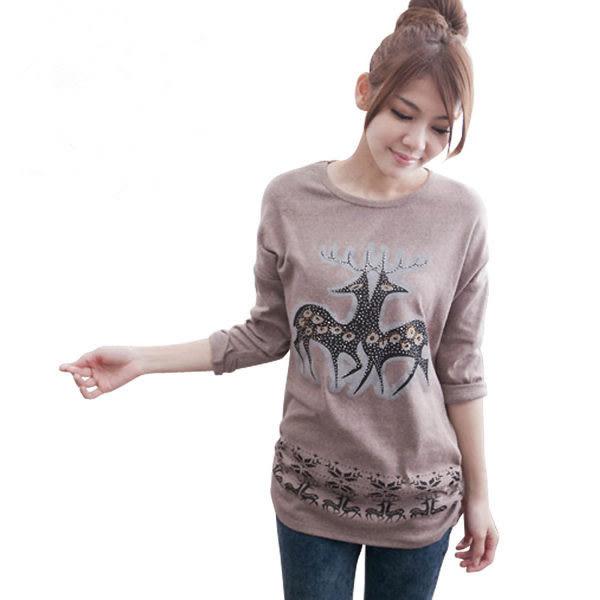 T恤【597】FEELNET中大尺碼女裝春裝新款休閑長袖打底衫上衣t恤 2XL-3XL碼