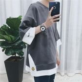 新款夏季短袖T恤男士衣服韓版情侶裝潮流半袖寬鬆文藝原宿風   蜜拉貝爾