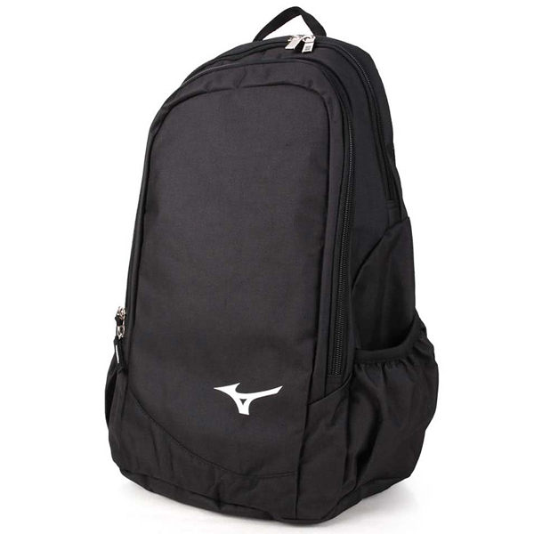 Mizuno 背包 後背包 休閒 旅行 多功能 15吋筆電 黑 【運動世界】33TD8X0009