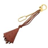 CELINE 賽琳 棕色駝鳥皮鑰匙扣 key holder 【BRAND OFF】