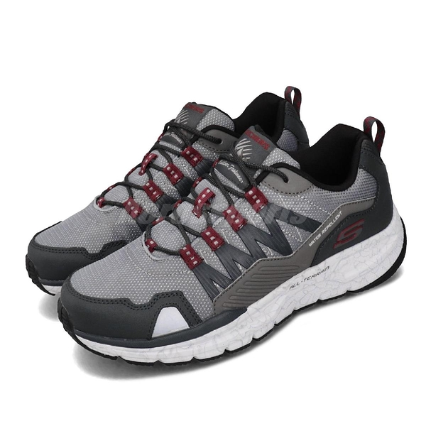Skechers 戶外鞋 Escape Plan 2.0-Ashwick 灰 紅 男鞋 運動鞋 登山 【PUMP306】 51926GYRD