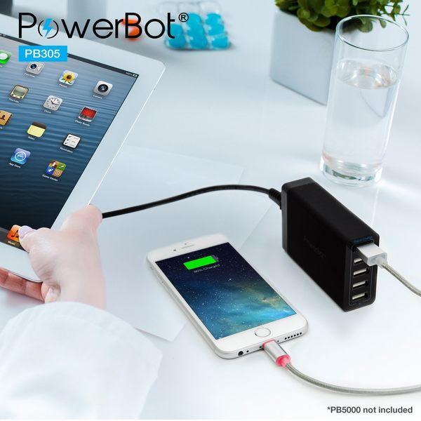 美國聲霸PowerBot PB305 Apple Lightning 8pin MFI 蘋果認證LED充電速度顯示型快速充電線