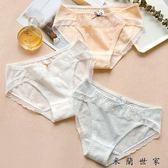 鏤空純棉少女甜美蕾絲邊內褲女