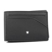 MONTBLANC萬寶龍 Extreme風尚系列2.0 袖珍型拉鍊卡夾 黑色 123956 BLACK