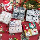 4雙禮盒圣誕襪子女生情侶韓國卡通秋冬純棉保暖可愛珊瑚絨中筒襪 亞斯藍