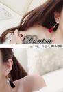 耳環 現貨 韓國 時尚 氣質 甜美 浪漫 百搭 皮質 流蘇 後掛耳環 S92031 批發價 Danica 韓系飾品