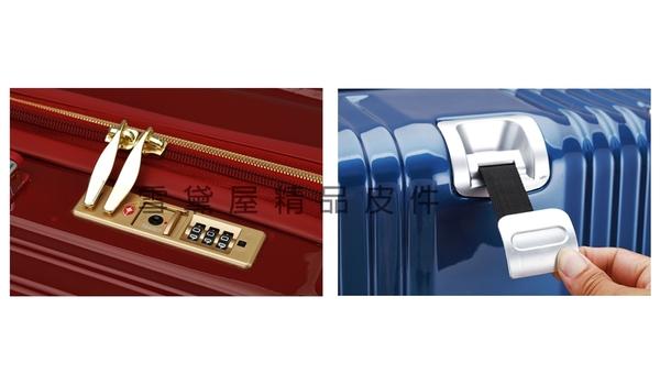 ~雪黛屋~CLASSIC 20寸旅行箱PC防刮進口ABS密鎖防盜拉鍊硬殼360度靜音雙飛機輪旋轉#63309