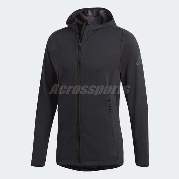 adidas 連帽外套 FreeLift ClimaCool Hoodie 黑 全黑 男款 運動夾克 【PUMP306】 CZ5290