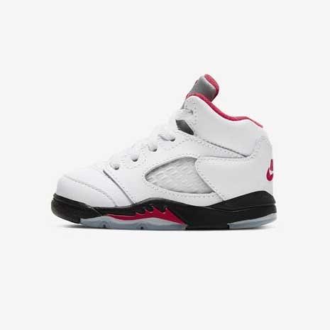 【折後$1899再送贈品】NIKE Jordan 5 Retro 小童鞋 流川楓 喬丹 經典 復古 白紅黑 休閒 運動 440890-102