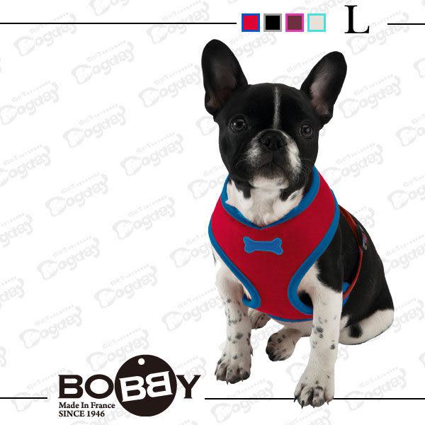 法國《BOBBY》運動彩條 背心胸背 L號 項圈 胸背