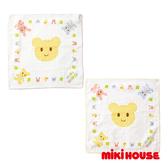 MIKI HOUSE BABY 日本製 可愛動物紗布手帕(2入組)