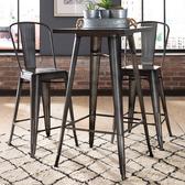 【E-home】Dale黛爾工業風金屬方形吧台桌-幅60cm-三色可選槍色
