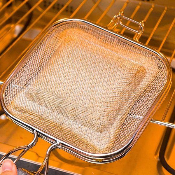 BreadLeaf 熱壓吐司神器 三明治烤箱烤網 不鏽鋼麵包烤網 帕尼尼 熱壓三明治 炭烤吐司 三明治夾B038