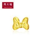 米妮蝴蝶結黃金耳環(單耳) 周大福 迪士尼經典系列