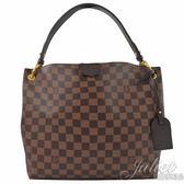 Louis Vuitton LV N44044 GRACEFUL PM 棋盤格紋皮飾邊磁釦單肩背包 全新 現貨【茱麗葉精品】