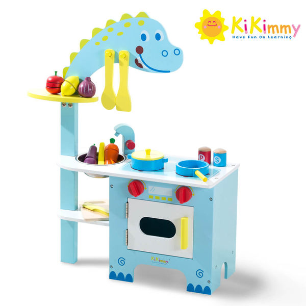 kikimmy 恐龍木製廚房玩具組(木製玩具) 大樹