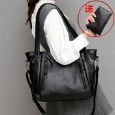 托特包-包包女2020新款潮時尚百搭大容量托特包休閒手提單肩斜挎女包大包