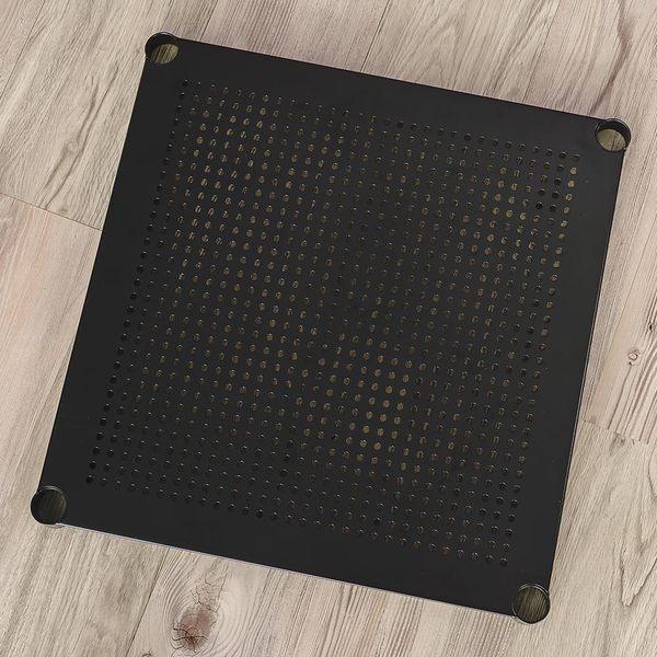 收納架/置物架/層架 【配件類】極致美學45X45cm沖孔烤漆黑層板  dayneeds