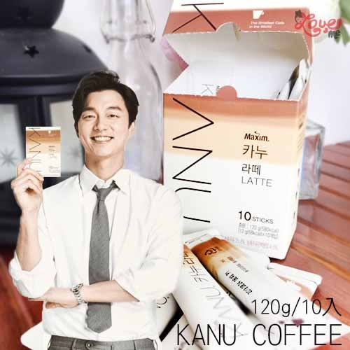 韓國 KANU 無糖拿鐵 漸層包裝 孔劉代言 拿鐵 即溶咖啡 無糖 鬼怪 120g/10入【即期7/16可接受再下單】