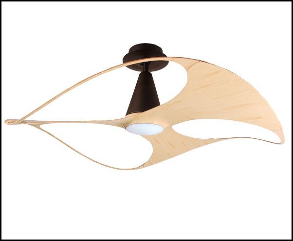 VENTO芬朵吊扇 SWISH 設計師聯名款系列 48吋 仿古色本體 淺色竹紋/胡桃木紋
