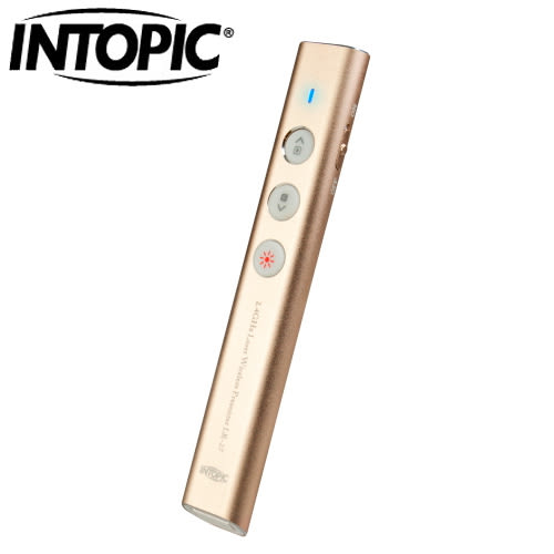 INTOPIC 廣鼎 LR27 2.4G 無線雷射簡報筆 紅光 金