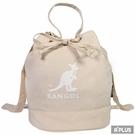 KANGOL 包 兩用尼龍水桶手提包 側背包 奶茶色 袋鼠包 - 6025301831